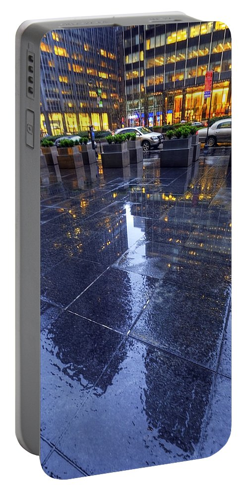 America Portable Battery Charger featuring the photograph Rainy Day by Svetlana Sewell