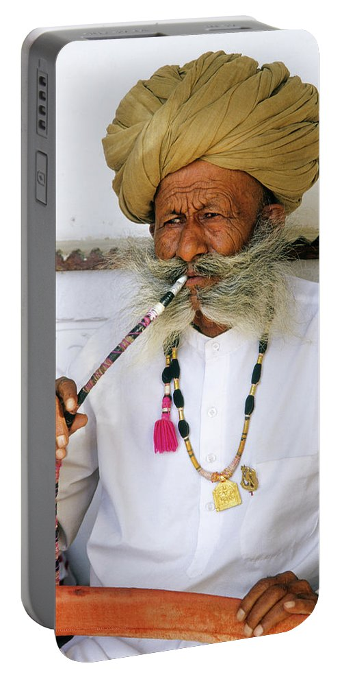 India Portable Battery Charger featuring the photograph Rajasthani Elder by Michele Burgess
