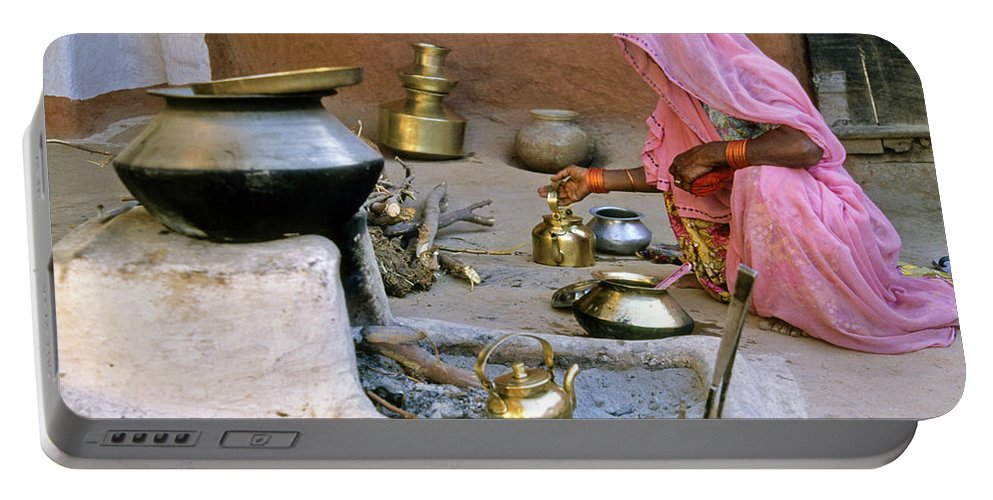 India Portable Battery Charger featuring the photograph Rajasthani Woman by Michele Burgess