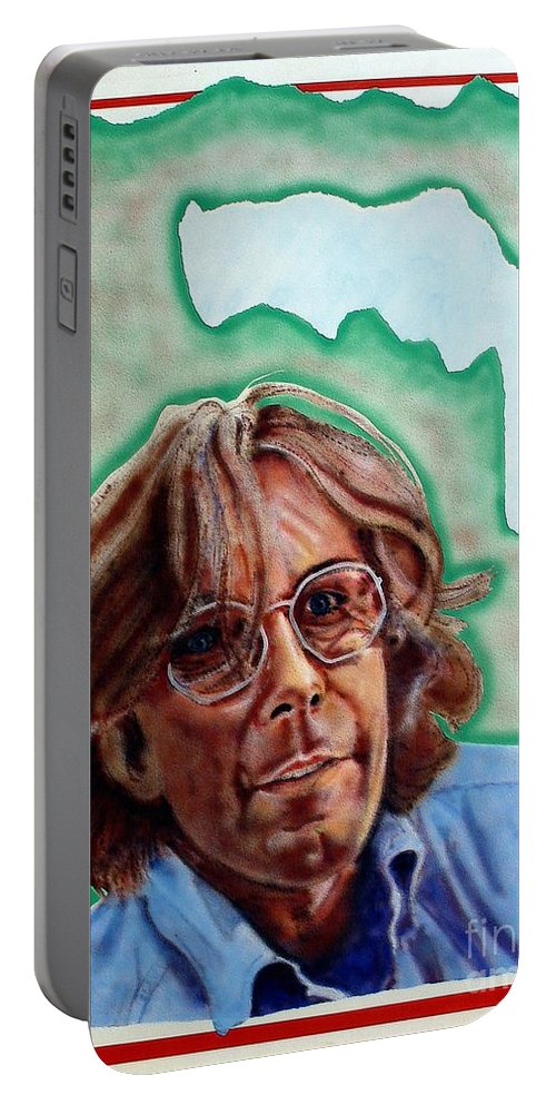 Portrait Portable Battery Charger featuring the painting Ramsey by Ron Bissett