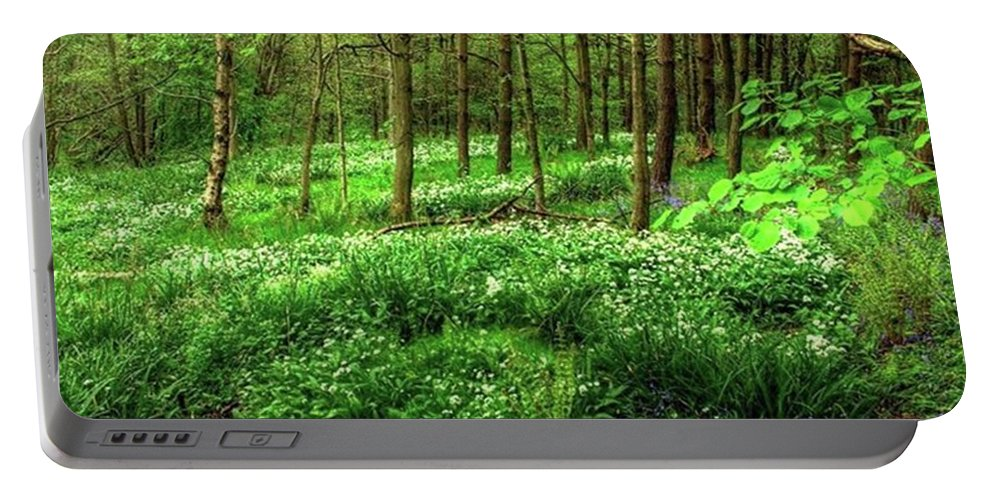 Nature Portable Battery Charger featuring the photograph Ramsons And Bluebells, Bentley Woods by John Edwards