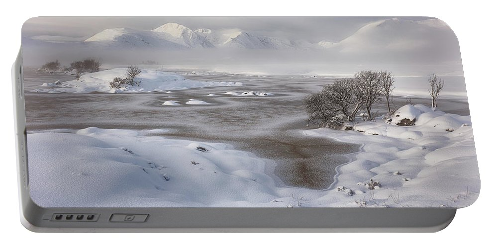 Black Mount Portable Battery Charger featuring the photograph Rannoch Moor Winter by Grant Glendinning
