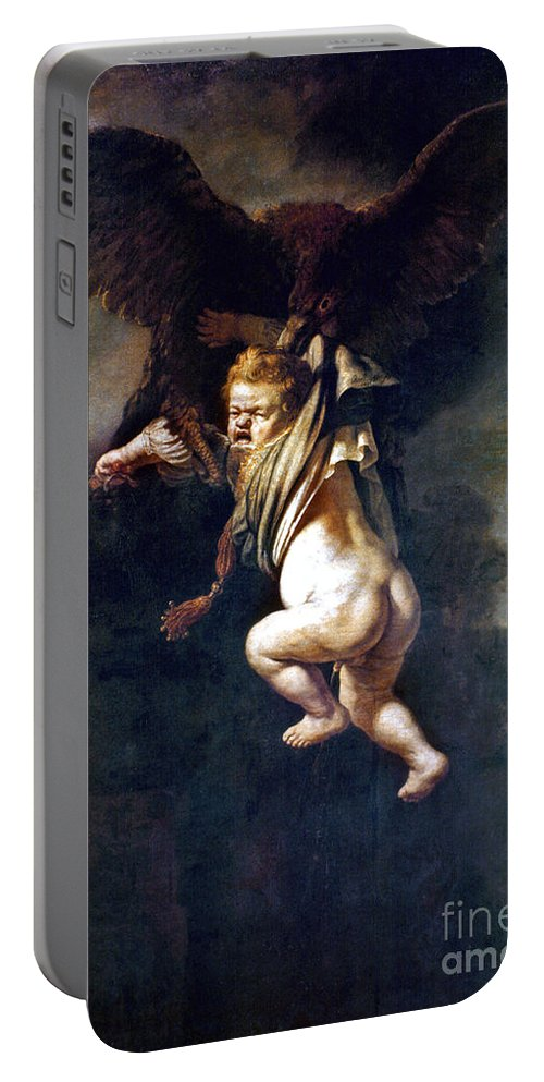 1635 Portable Battery Charger featuring the painting Rape Of Ganymede by Granger