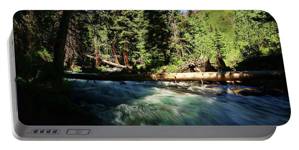 America Portable Battery Charger featuring the photograph Rapids Near Maroon Bells by Judy Vincent