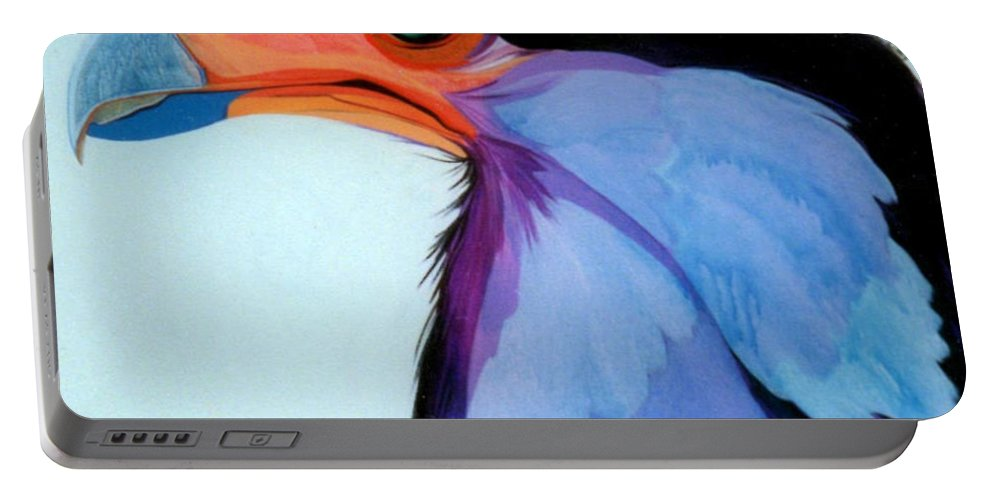 Raptor Portable Battery Charger featuring the painting Raptor 5 by Marlene Burns