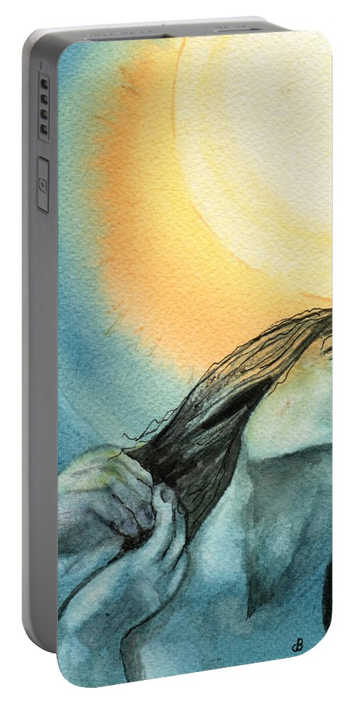 Watercolor Portable Battery Charger featuring the painting Rapture by Brenda Owen