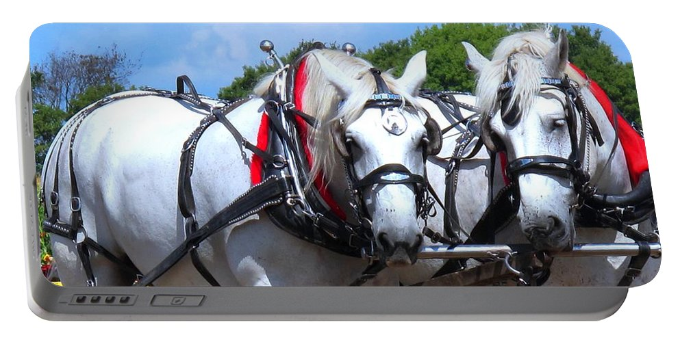 Horse Portable Battery Charger featuring the photograph Raw Power by Ian MacDonald