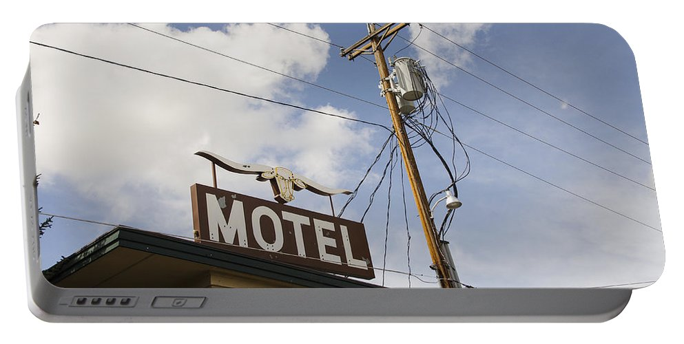 Rawhide Motel Portable Battery Charger featuring the photograph Rawhide Motel by Erik Burg