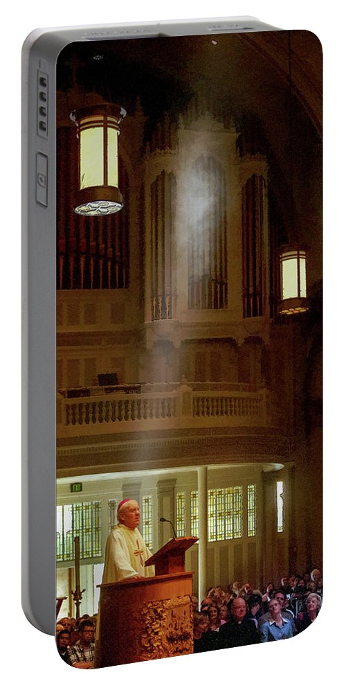 Raymond Hunthausen Portable Battery Charger featuring the photograph Raymond Hunthausen 4 by Mike Penney