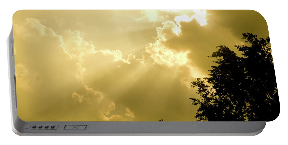 Sun Portable Battery Charger featuring the photograph Rays Of Glory by Trish Tritz