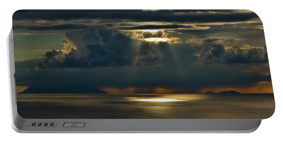 Clouds Portable Battery Charger featuring the photograph Rays Of God by Max Steinwald