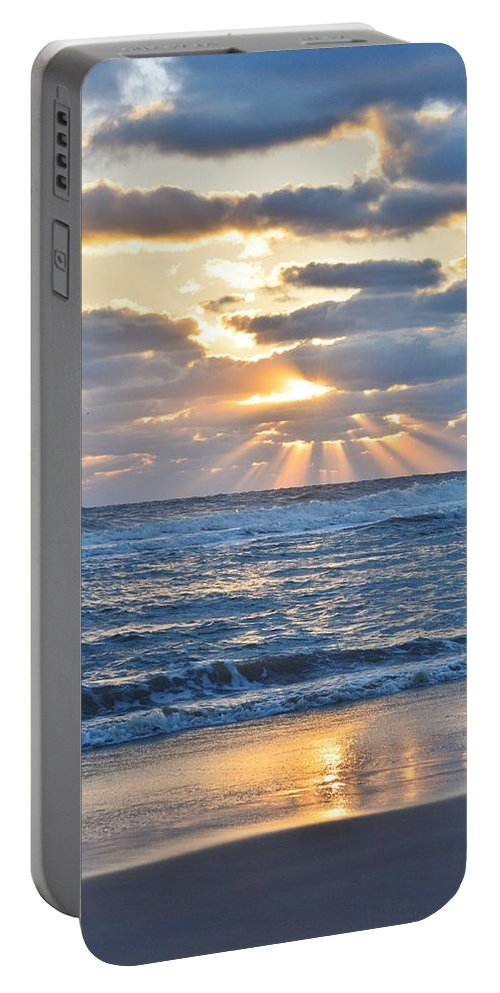 Obx Sunrise Portable Battery Charger featuring the photograph Rays Of Light by Barbara Ann Bell