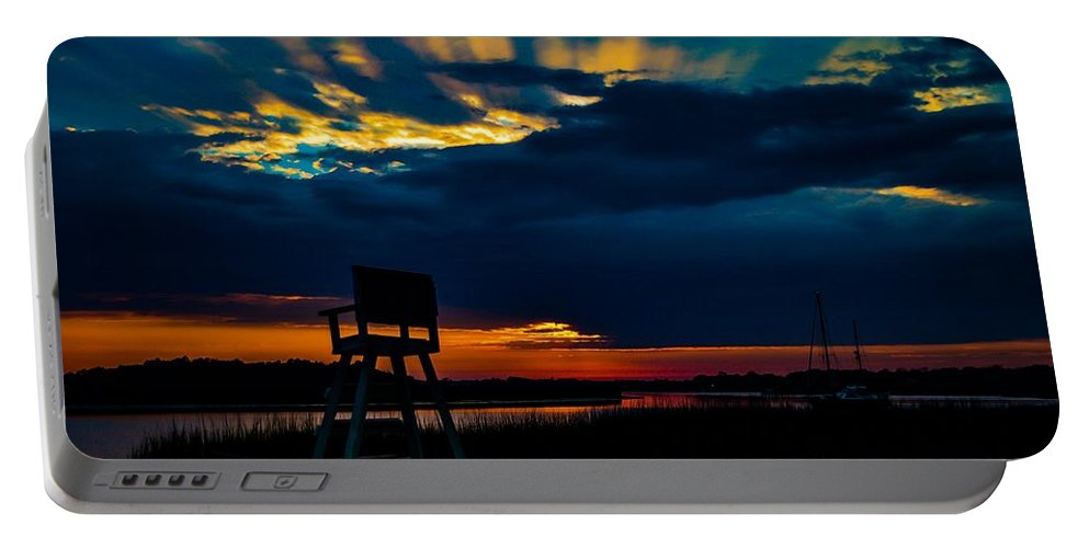 Marsh Portable Battery Charger featuring the photograph Rays Of Sunshine by Angela Sherrer