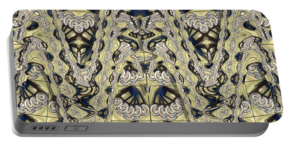 Abstract Portable Battery Charger featuring the photograph Rca Lyra Pattern by Ron Bissett