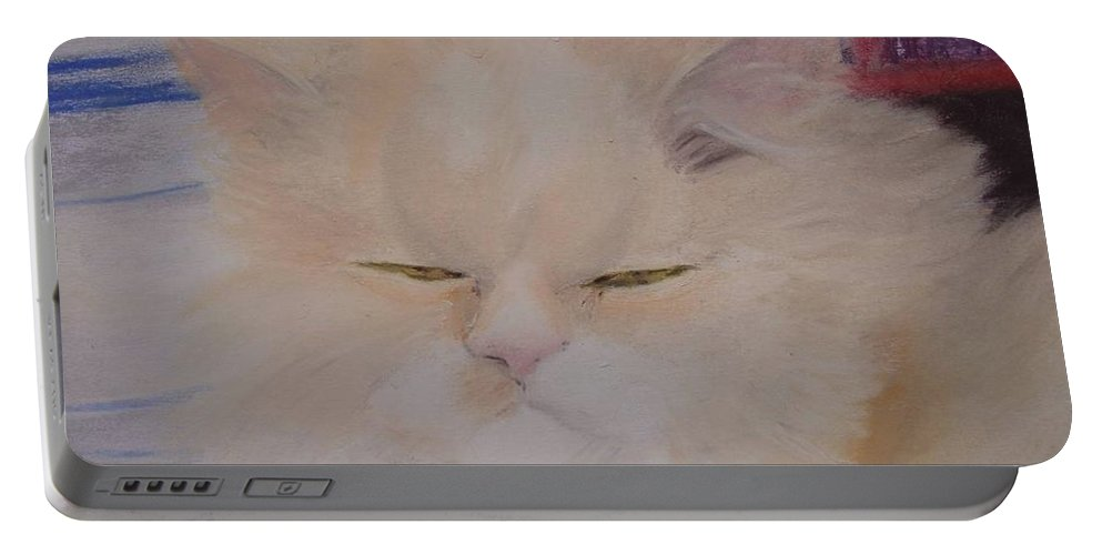 Pastels Portable Battery Charger featuring the pastel Rea Detail by Catt Kyriacou