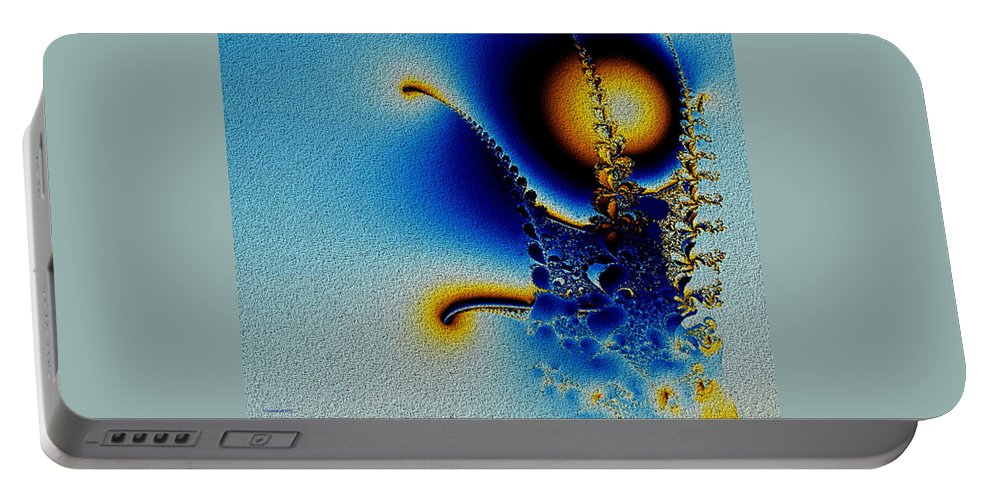 Unusual Portable Battery Charger featuring the digital art Reach For The Moon by Claire Bull