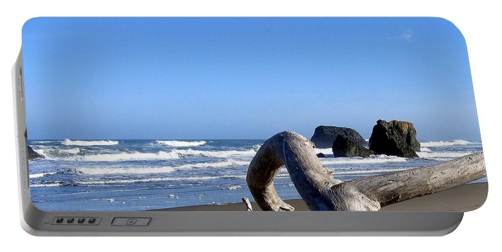 Reaching Back To The Sea Portable Battery Charger featuring the photograph Reaching Back To The Sea by Will Borden
