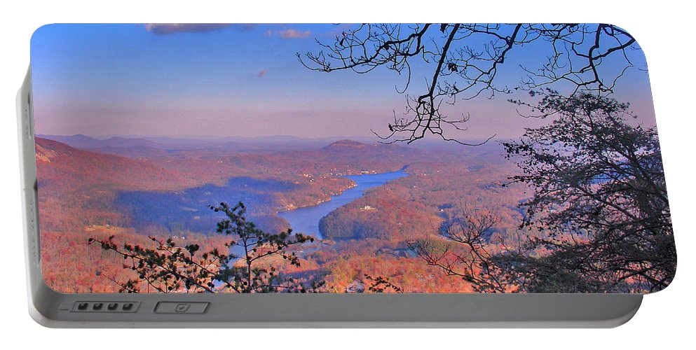 Landscape Portable Battery Charger featuring the photograph Reaching for a cloud by Steve Karol