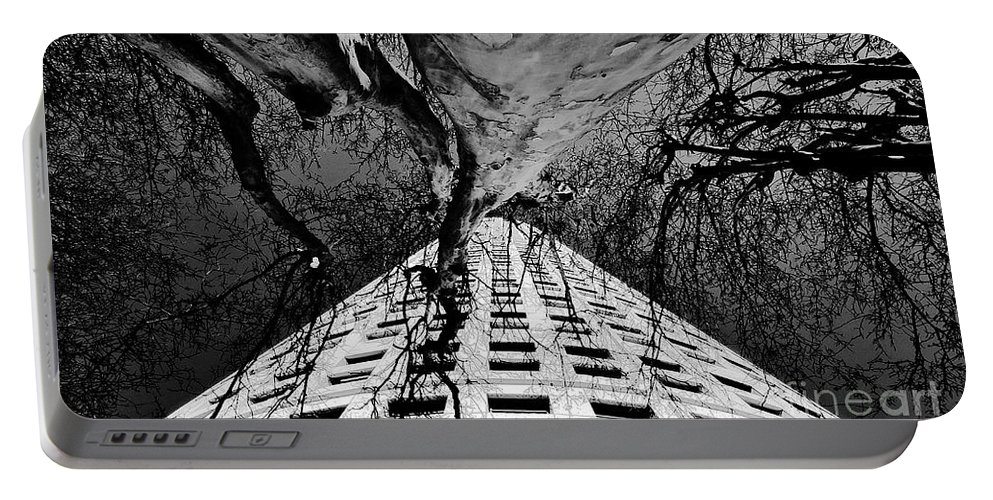 Art Portable Battery Charger featuring the painting Reaching Up by David Lee Thompson