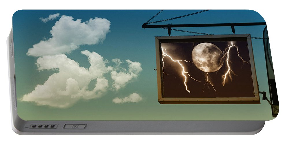Sky Portable Battery Charger featuring the photograph Read The Signs by Kristie Bonnewell