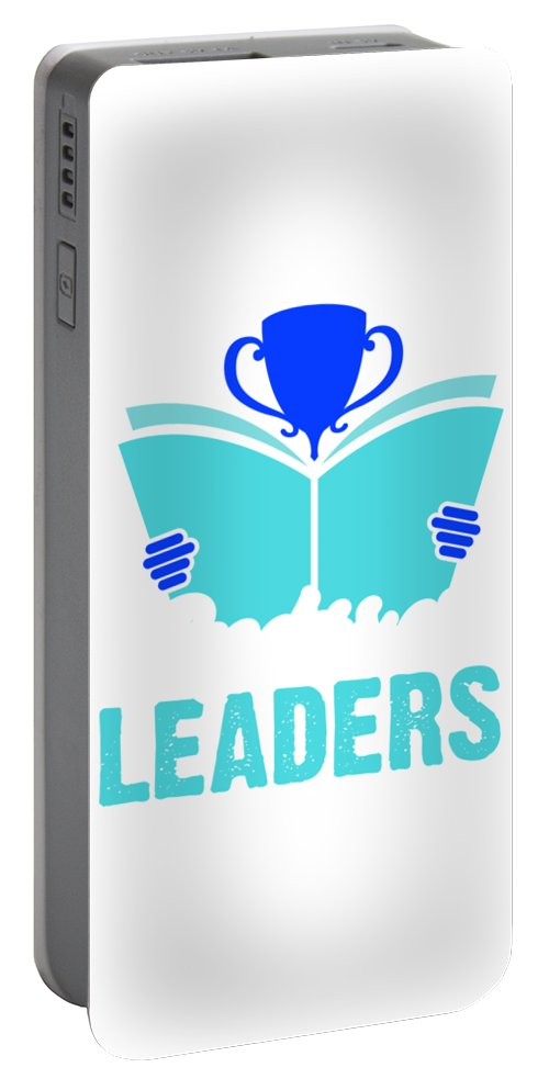 Book Portable Battery Charger featuring the digital art Readers Are Leaders by Kaylin Watchorn