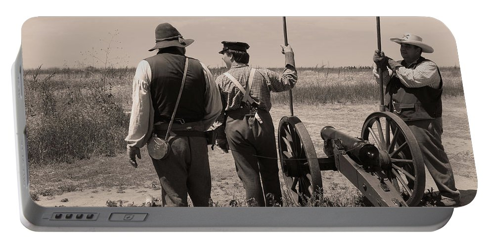 Civil War Portable Battery Charger featuring the photograph Ready On The Right by Tommy Anderson