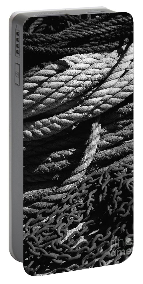 White Portable Battery Charger featuring the photograph Ready To Go by Susanne Van Hulst