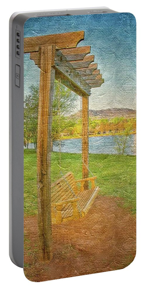 Swing Portable Battery Charger featuring the photograph Ready to Swing at Furman, Greenville, South Carolina by Zayne Diamond Photographic