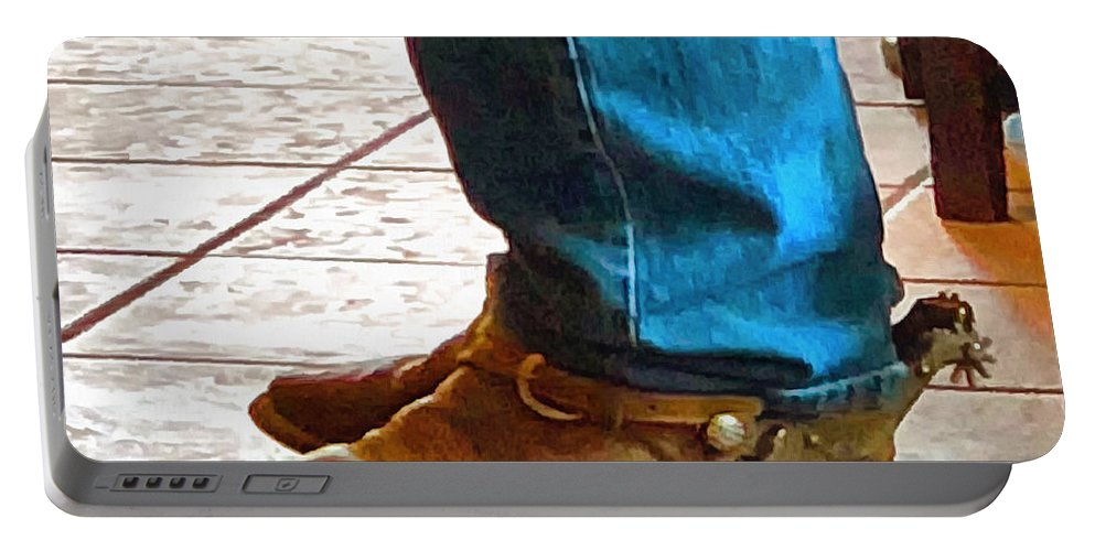 Real Cowboy Real Cowboy Boots Real Spurs Portable Battery Charger