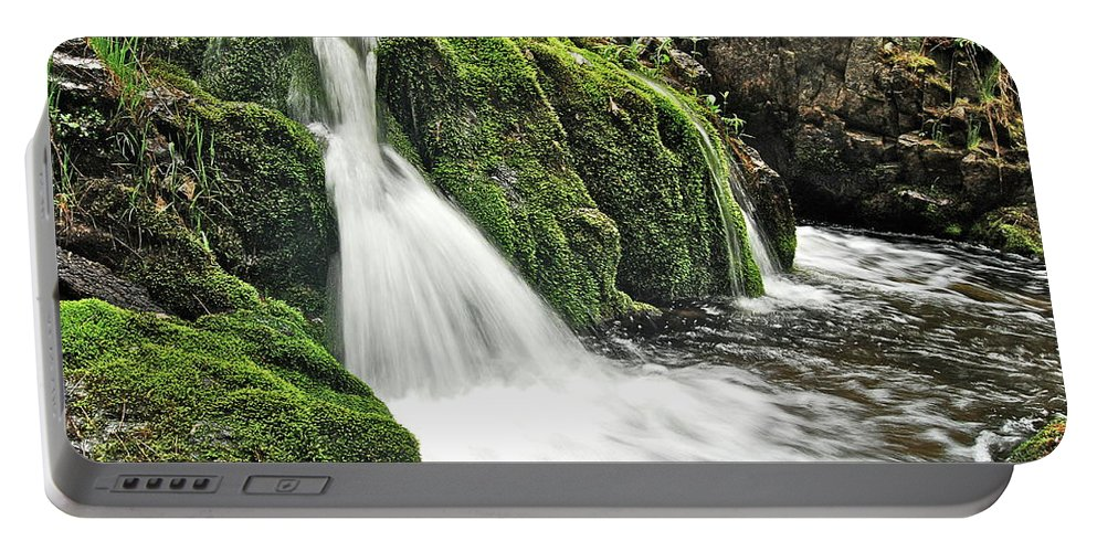 Reany Falls Portable Battery Charger featuring the photograph Reany Falls 1 by Michael Peychich