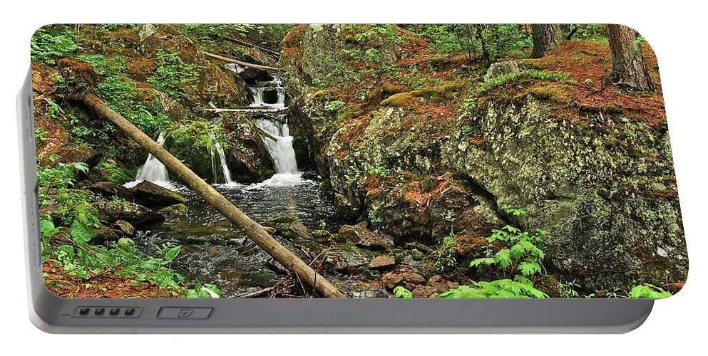 Reany Falls Portable Battery Charger featuring the photograph Reany Falls 3 by Michael Peychich