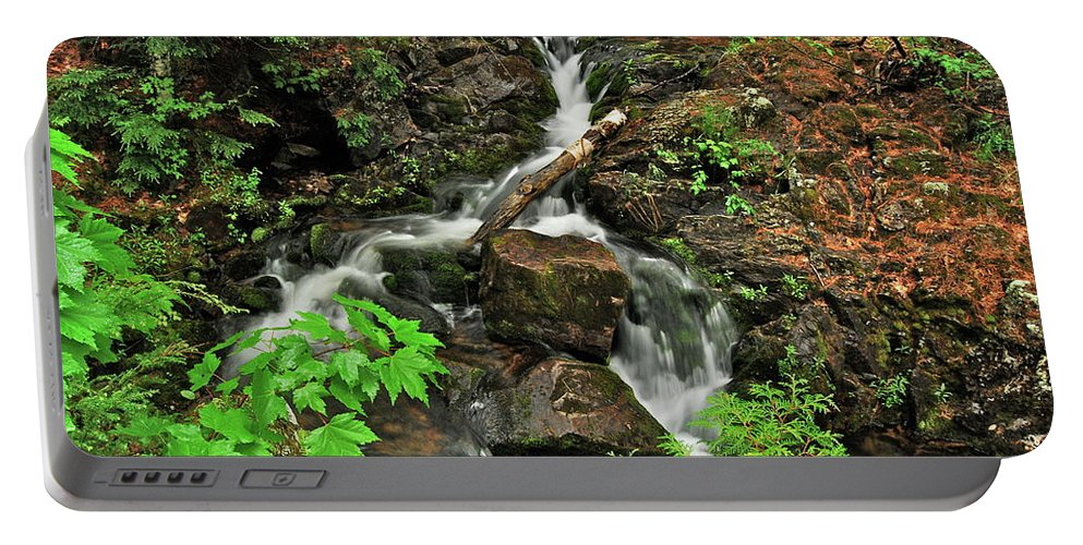 Reany Falls Portable Battery Charger featuring the photograph Reany Falls 5 by Michael Peychich