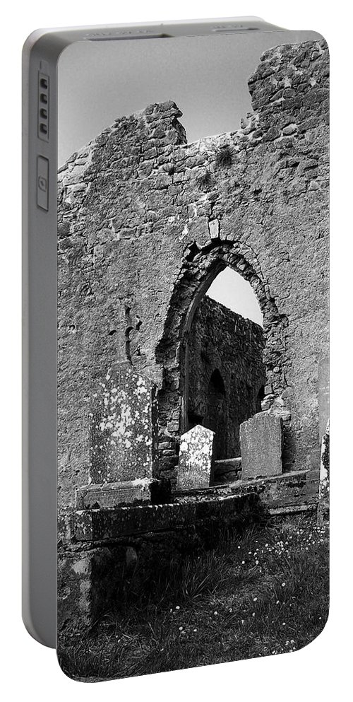 Ireland Portable Battery Charger featuring the photograph Rear Entrance Fuerty Church Roscommon Ireland by Teresa Mucha