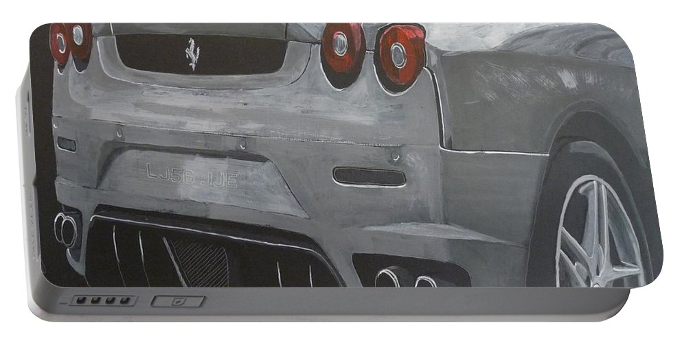 Ferrari Portable Battery Charger featuring the painting Rear Ferrari F430 by Richard Le Page