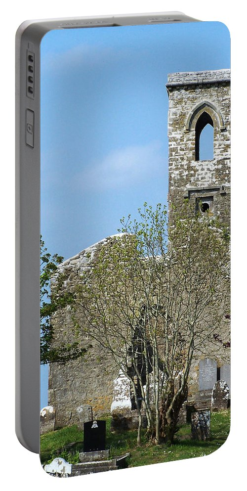 Fuerty Portable Battery Charger featuring the photograph Rear View Fuerty Church And Cemetery Roscommon Ireland by Teresa Mucha