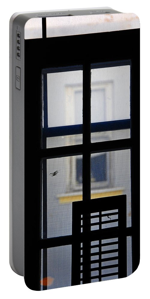 Architecture Portable Battery Charger featuring the photograph Rear Window 2 by Skip Hunt
