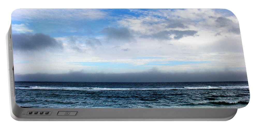 Seascape Portable Battery Charger featuring the photograph Receding Fog Seascape by Steve Karol