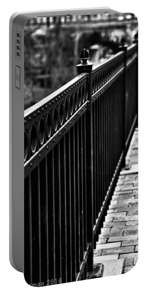 Ellicott City Portable Battery Charger featuring the photograph Receding Lines by Kathi Isserman