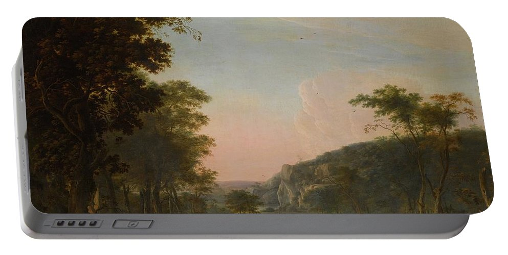 Daniël Thivart The Reconciliation Of Jacob And Esau Portable Battery Charger featuring the painting Reconciliation Of Jacob And Esau by MotionAge Designs