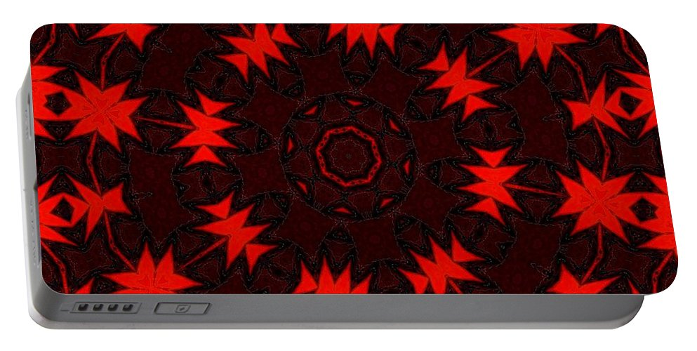 Fine Art Portable Battery Charger featuring the digital art Red Abstract 031211 by David Lane