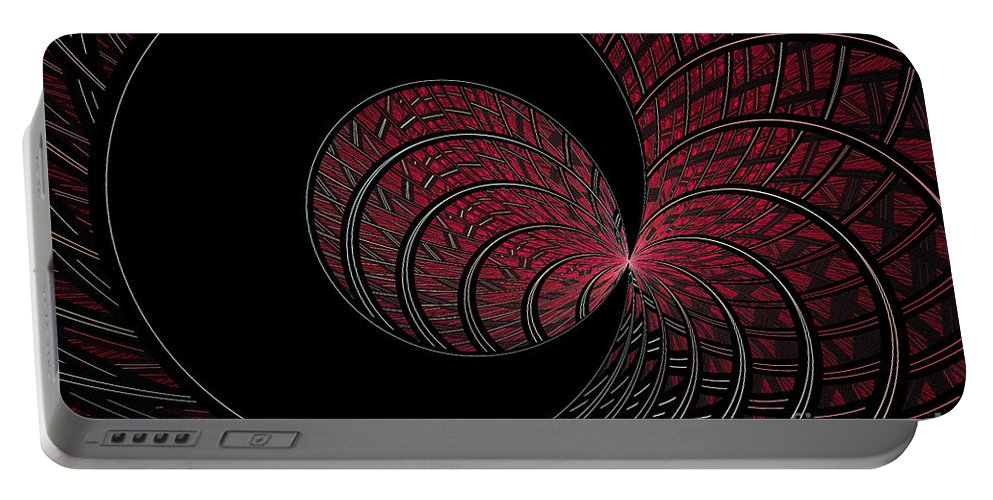 Digital Portable Battery Charger featuring the digital art Red-addz by Deborah Benoit