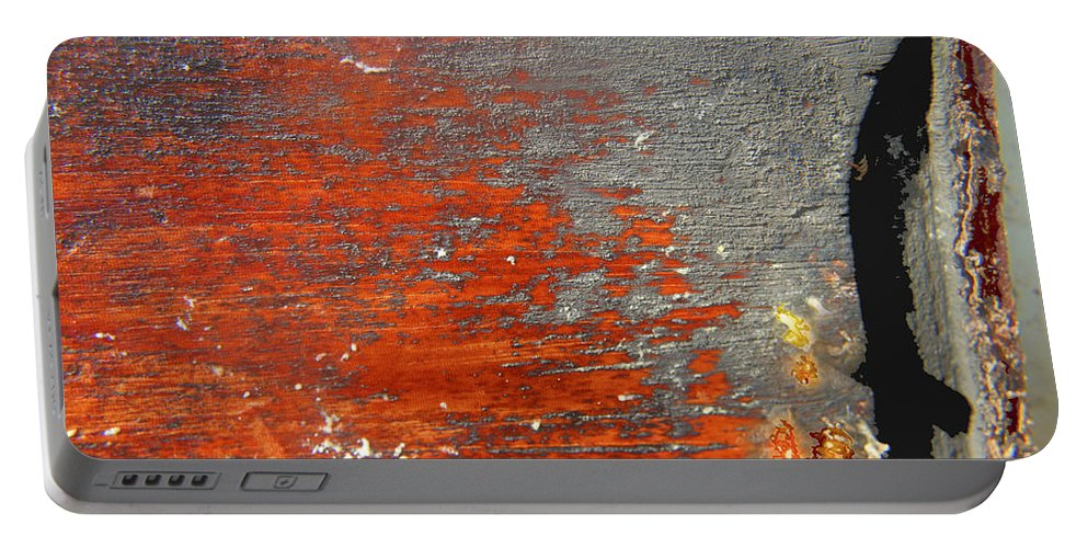 Red Portable Battery Charger featuring the photograph Red And Grey Abstract by Hana Shalom