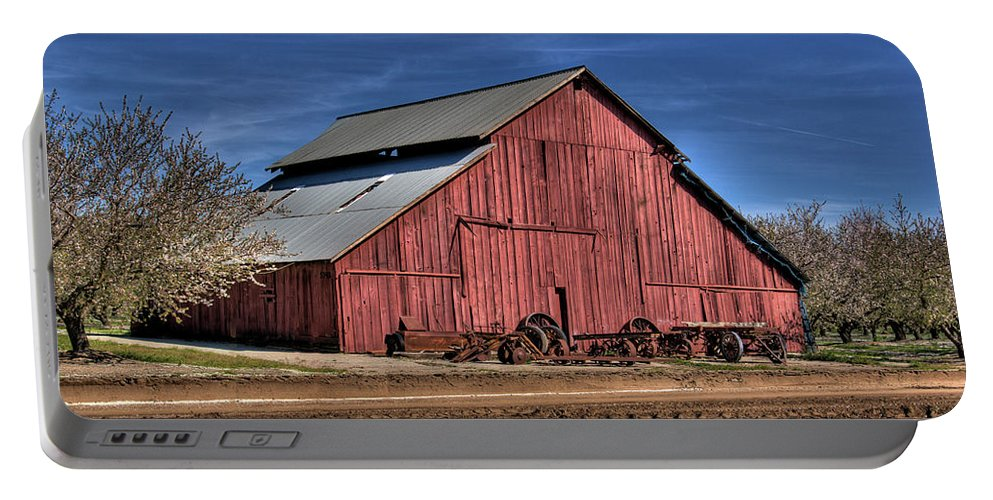 Barn Portable Battery Charger featuring the photograph Red Barn by Jim And Emily Bush