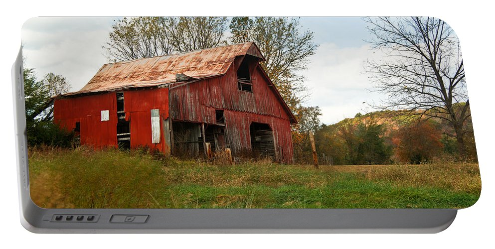 Very Portable Battery Charger featuring the photograph Red Barn Putnum County by Douglas Barnett