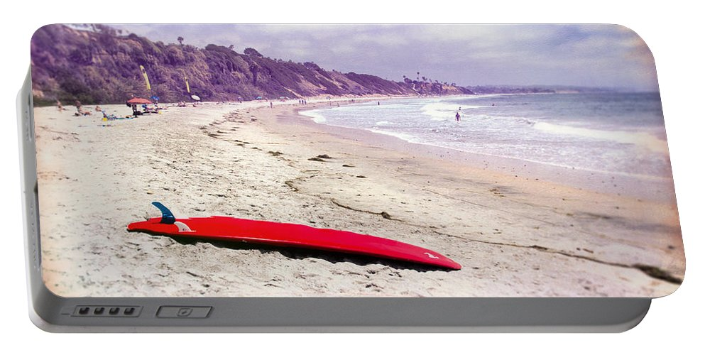 Beach Portable Battery Charger featuring the photograph Red Board by Peter Tellone