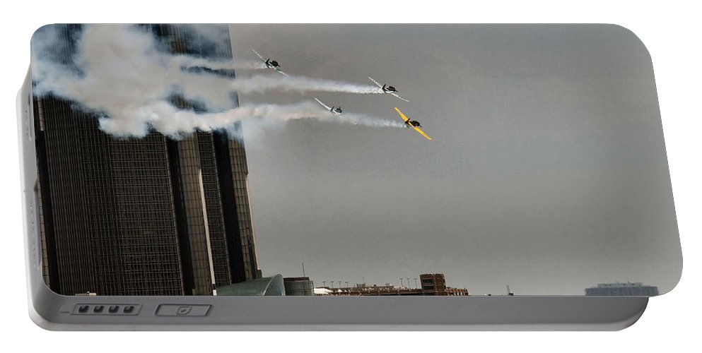 Redbullairrace Portable Battery Charger featuring the photograph Red Bull Air Race 2008 by Barry King