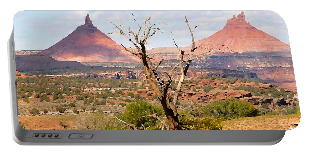 Buttes Portable Battery Charger featuring the photograph Red Buttes by David Lee Thompson