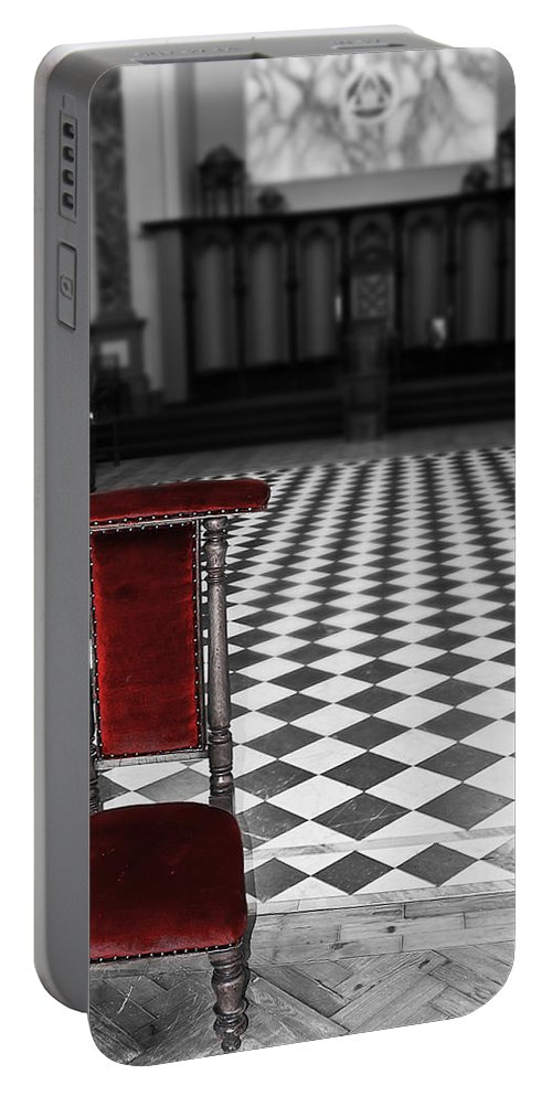 Beamish Portable Battery Charger featuring the photograph Red Chair by Svetlana Sewell