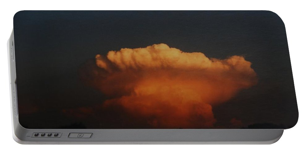 Clouds Portable Battery Charger featuring the photograph Red Cloud by Rob Hans