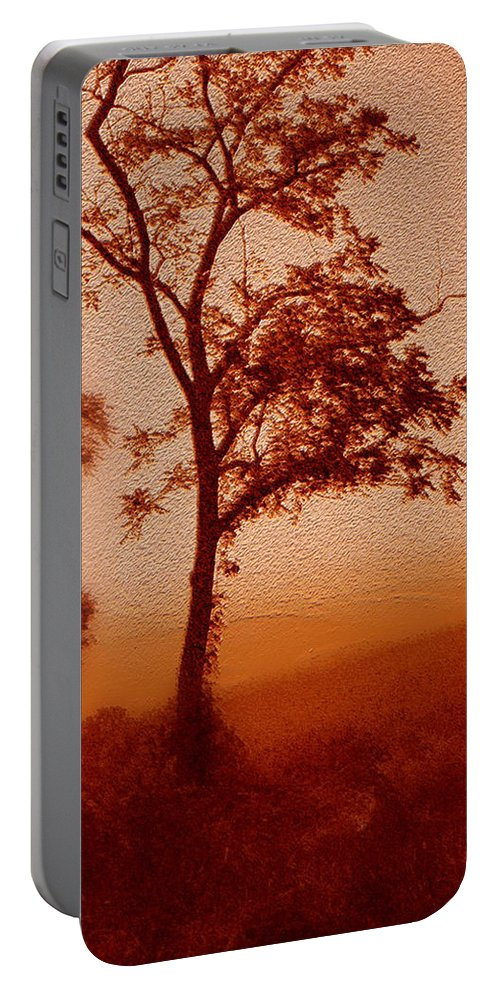 Red Dawn Portable Battery Charger featuring the photograph Red Dawn by Linda Sannuti